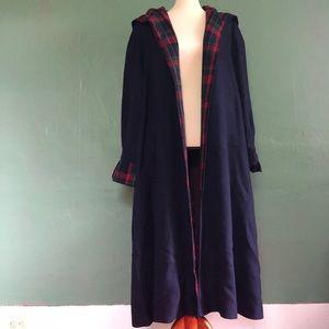Jackets & Blazers - Irish made deep blue wool jacket with plaid accent